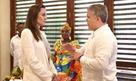 El Presidente Iván Duque se reunió este sábado con la Enviada Especial de la Agencia de la ONU para los Refugiados (Acnur), Angelina Jolie