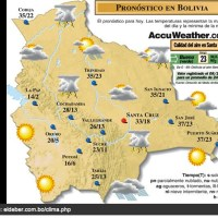 Bolivian weather: This week will be hot and rainy