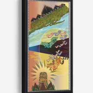 Escape From Tower of Terror Long Vertical Matte Framed Canvas Wall Art