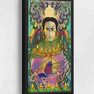 Third Kingdom Daman Long Vertical Matte Framed Canvas Wall Art
