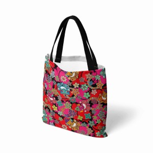 Ganesh with Lotus Flower Canvas Tote Bag