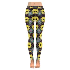 Yellow Knit Low Rise Leggings