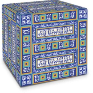 Blue and Gold Cube