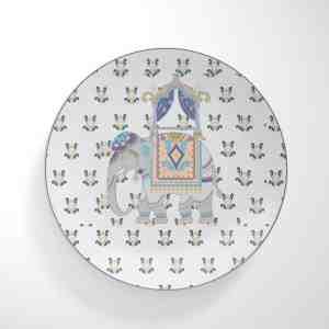 Purple Elephant Dinnerware Plate