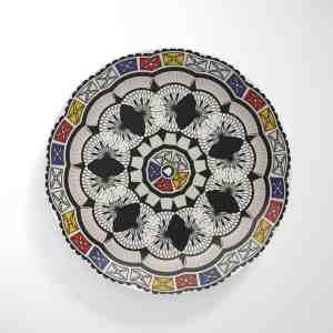 Snake Frame Flower Dinnerware Plate
