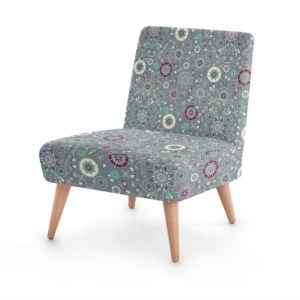 Emerald on Snowflakes Occasional Chair