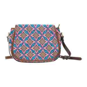 Floral Damask Saddle Bag