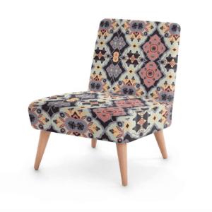 Flower Opal Cross Occasional Chair