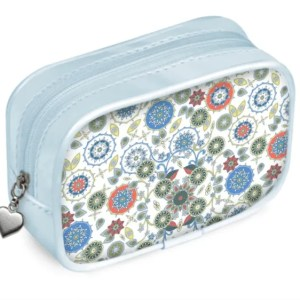 Emerald on Snowflakes Pouch Purse
