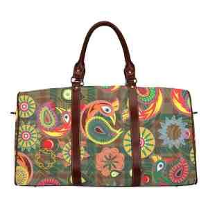 Orange Peacock Travel Bag