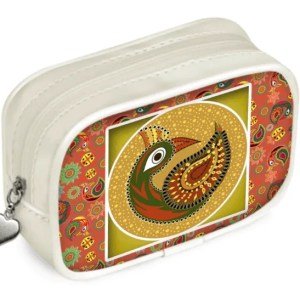 Multipattern Peacock Pouch Purse