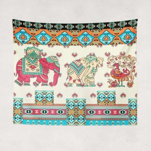 Horizon Peak Indoor Hemmed Tapestry
