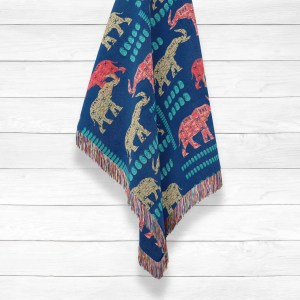 Elephant Made of Paisley Woven Throws
