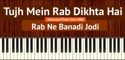 Tujh Mein Rab Dikhta Hai Advanced Piano Solo MIDI
