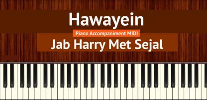 Hawayein Piano Accompaniment MIDI