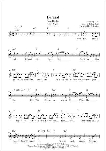 Darasal flute / violin notes