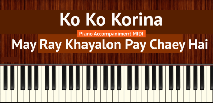 Ko Ko Korina Piano Accompaniment MIDI