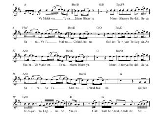 Mann Bharrya flute / violin notes