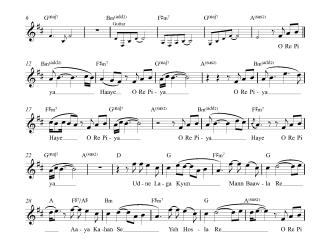 O Re Piya - Aaja Nachle flute / violin notes