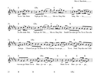 Tera Ban Jaunga - Kabir Singh flute / violin notes