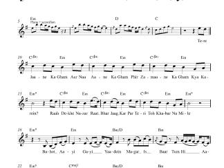 Tum Hi Aana - Marjaavaan flute / violin notes