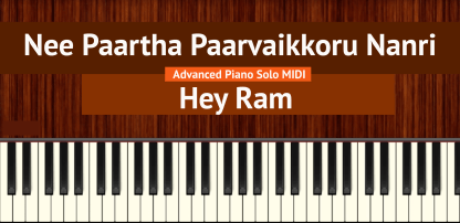 Nee Paartha Paarvaikkoru Nanri Advanced Piano Solo MIDI