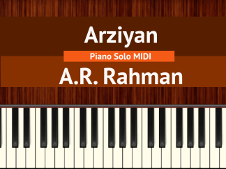 Arziyan - A.R. Rahman Piano Solo