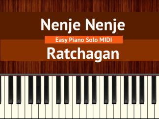 Nenje Nenje - Ratchagan Easy Piano Solo MIDI