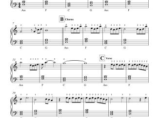 Sun Saathiya - ABCD 2 easy piano notes
