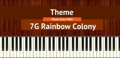 7G Rainbow Colony Theme piano notes