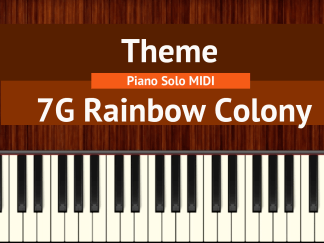 7G Rainbow Colony Theme piano notes