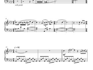 Pi's Lullaby - Life Of Pi piano notes