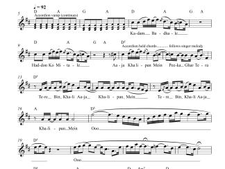 Kun Faaya Kun - Rockstar flute / violin notes
