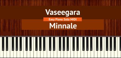 Vaseegara - Minnale Easy Piano Solo MIDI