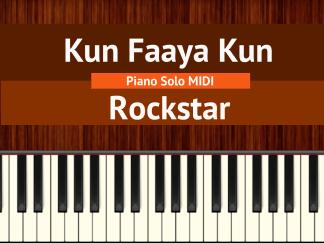 Kun Faaya Kun - Rockstar Piano Solo MIDI