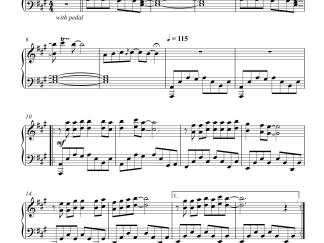 Naalona Pongenu - Surya s_o Krishnan advanced (melodious) piano notes