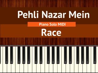 Pehli Nazar Mein - Race Piano Solo MIDI