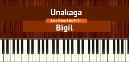 Unakaga - Bigil Easy Piano Solo MIDI