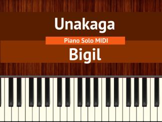 Unakaga - Bigil Piano Solo MIDI