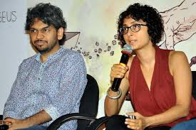 Anand Gandhi, director of Ship of Theseus, with Kiran Rao in 2013