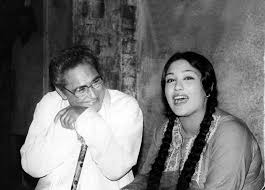 Preeti Ganguly with her father Ashok Kumar