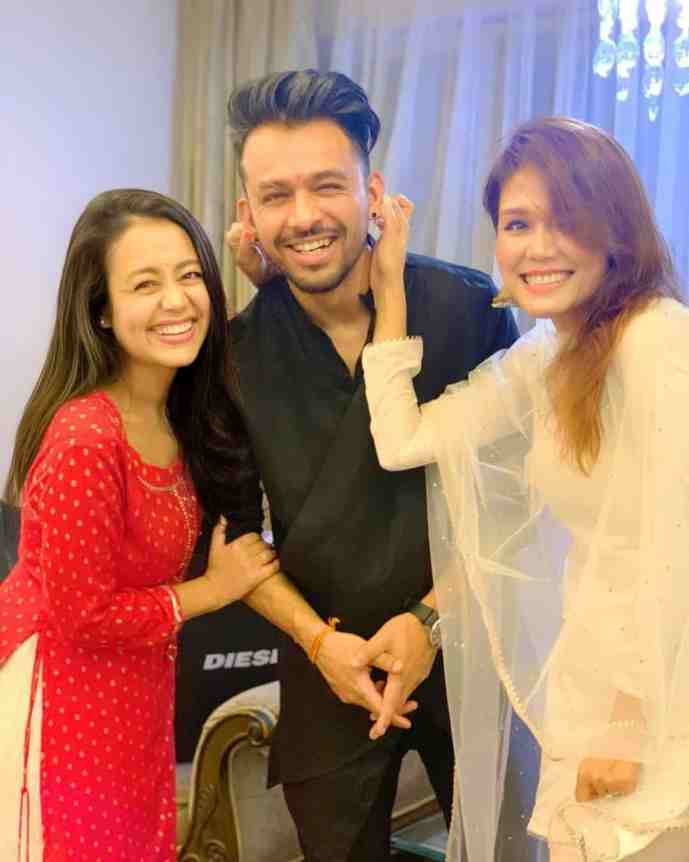 Neha Kakkar With Sonu Kakkar and Tony Kakkar