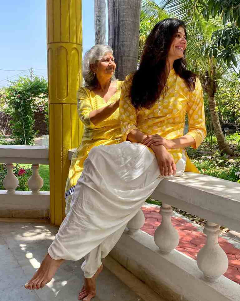 Pooja Batra with her mother