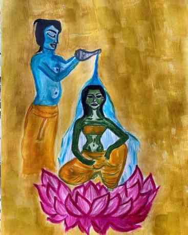 Warina hussain painting