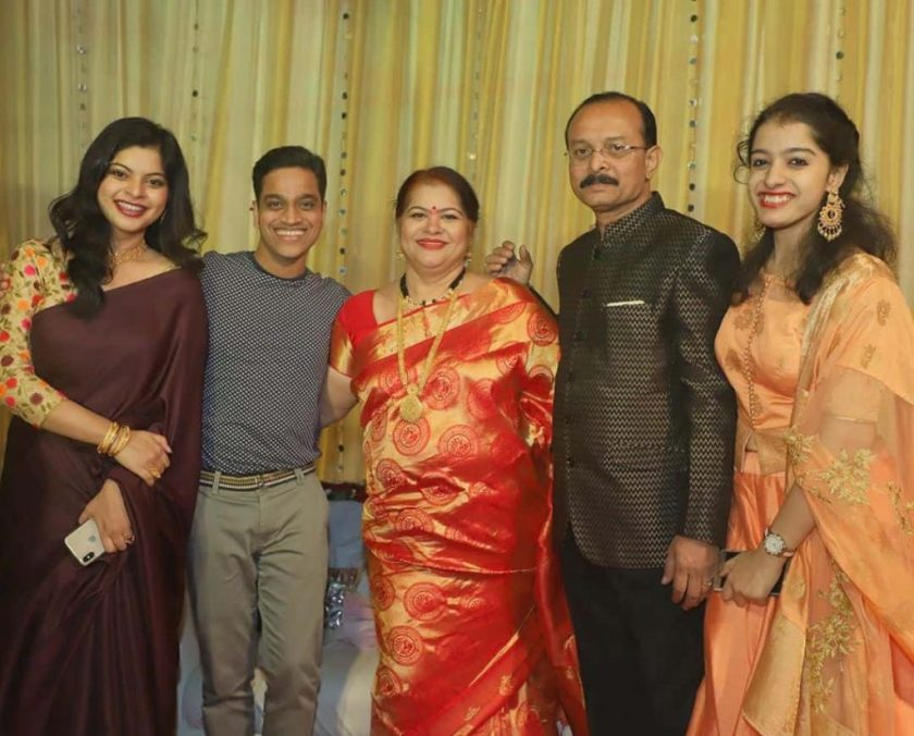 Sneha Wagh with Family