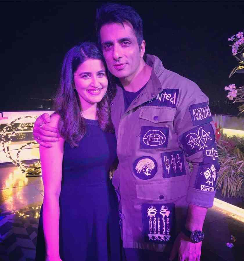 Vaidehi Parshurami with Sonu Sood