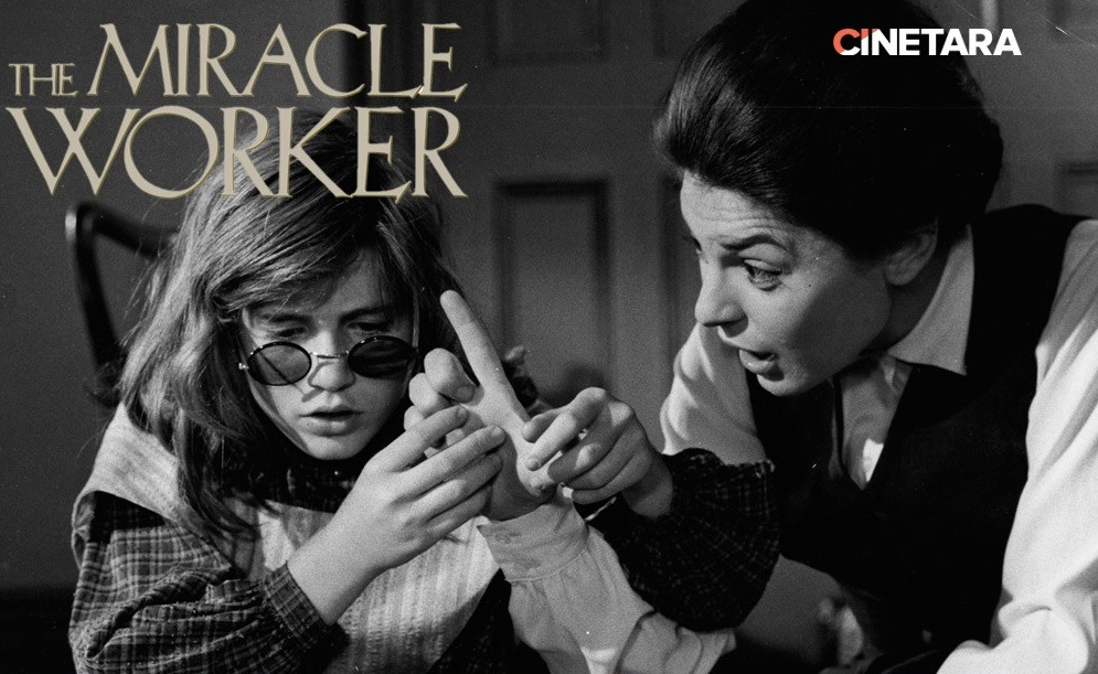 The miracle worker  poster is copied by Black