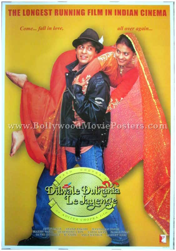 Image result for dilwale dulhania le jayenge poster