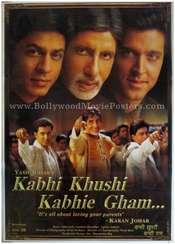 Image result for kabhi khushi kabhi gham poster
