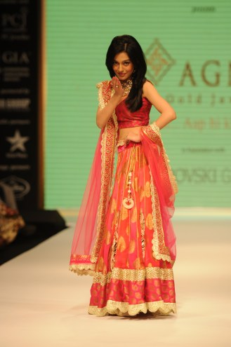 04 Amrita Rao wearing JASHN Lehenga at IIJW 2012.